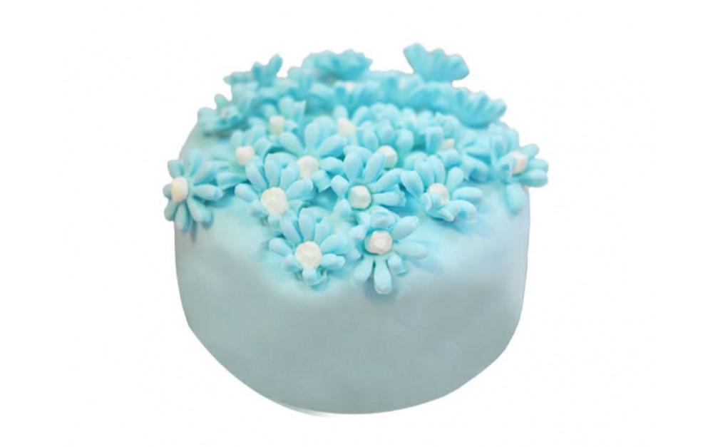 """Пирожное """"Голубые цветочки"""""""